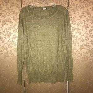 J. Crew Green Saturday Sweater Large L